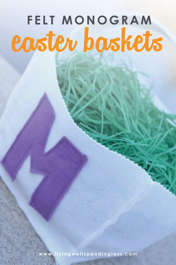 Looking for a fun arts and crafts activity to do this Easter holiday? This DIY felt monogram easter basket is simple to make, festive and so adroable!