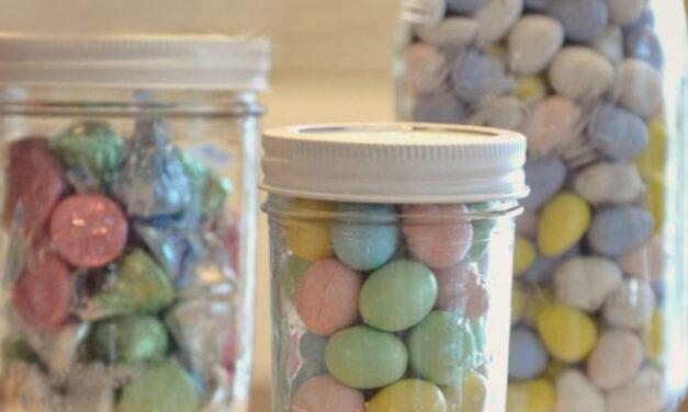 DIY Mason Jar Candy Pedestals