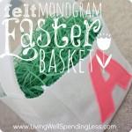felt monogram Easter basket square