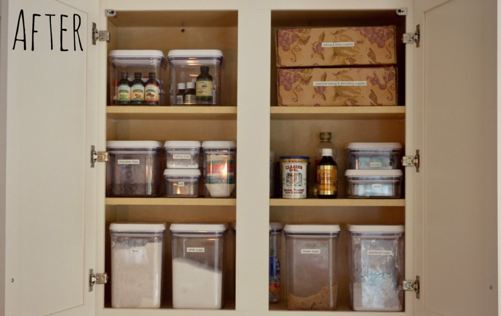After the deep clean our kitchen pantry was much easier to navigate. & How to Deep Clean Your Kitchen | Living Well Spending Less®