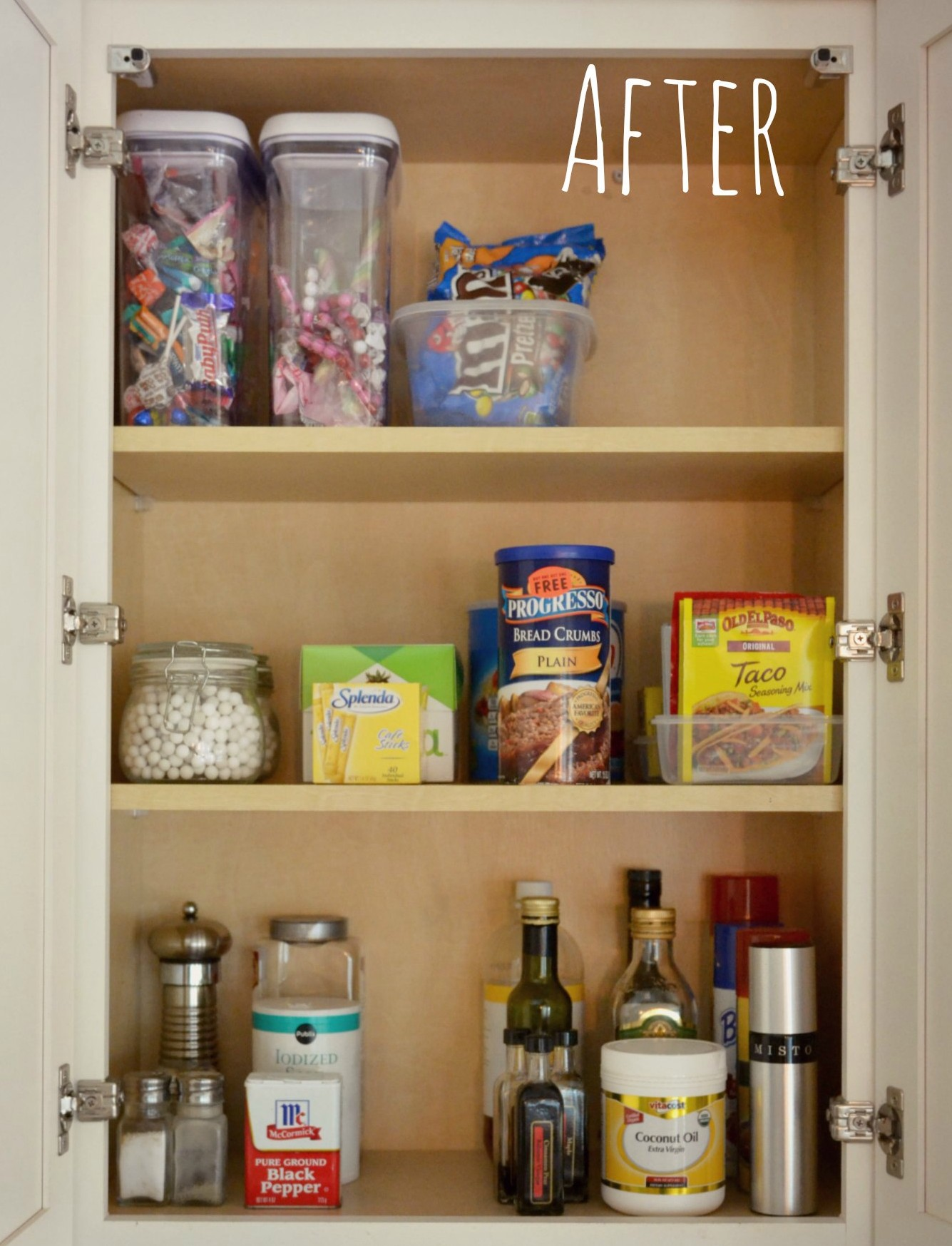 organized kitchen cabinet - Living Well Spending Less®