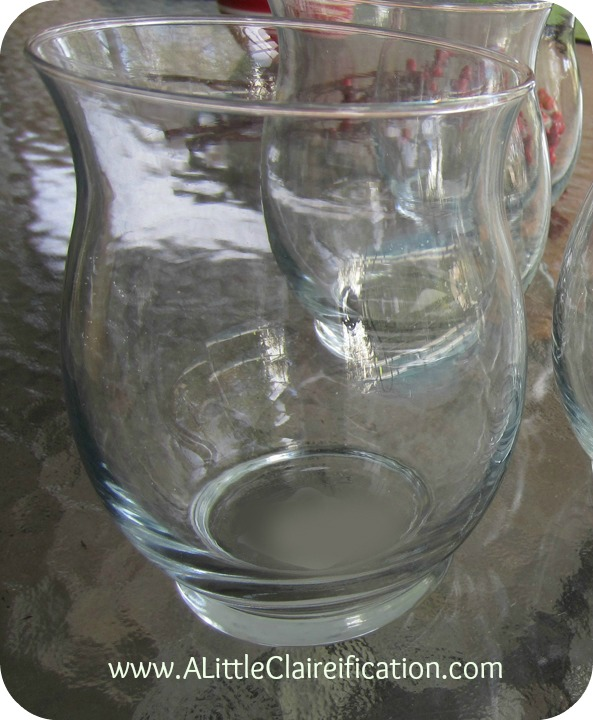 a mini hurricane glass is the perfect starting point for a diy mercury glass project - How To Make Mercury Glass