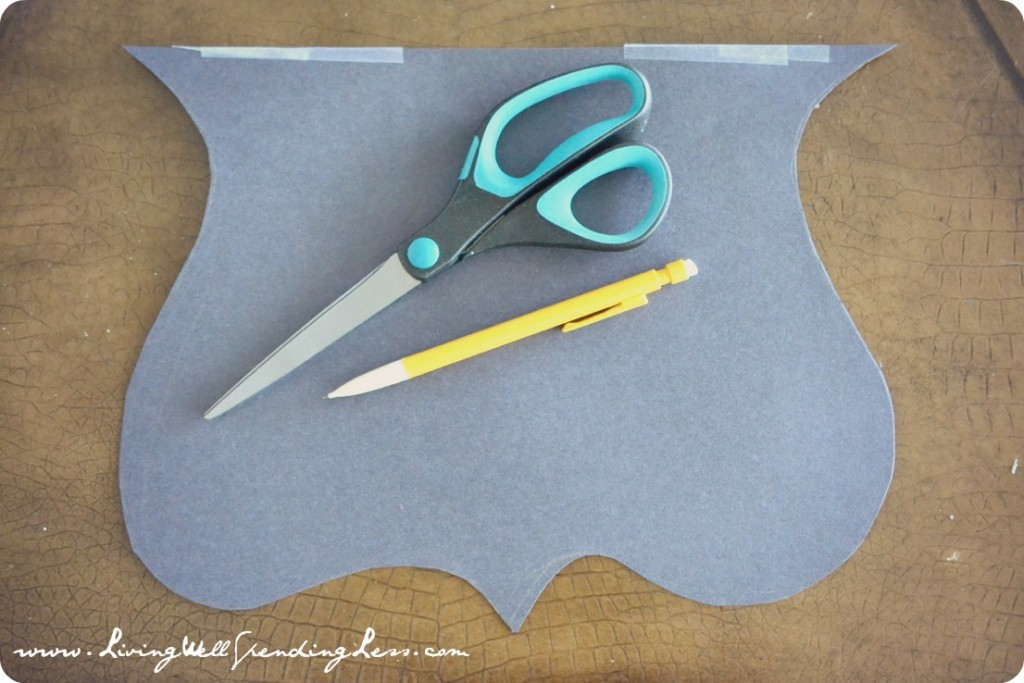 Take two pieces of construction paper for your pattern