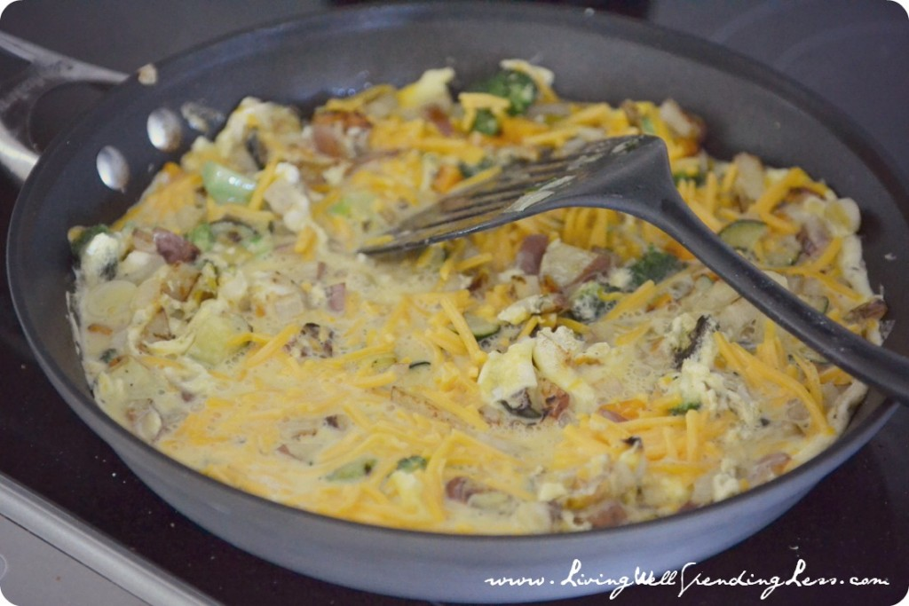 Fresh Veggie Egg Scramble | Garden Scramble Recipe | Veggie Scramble Recipe | Garden Fresh Scramble Recipe | Healhty Egg Scramble