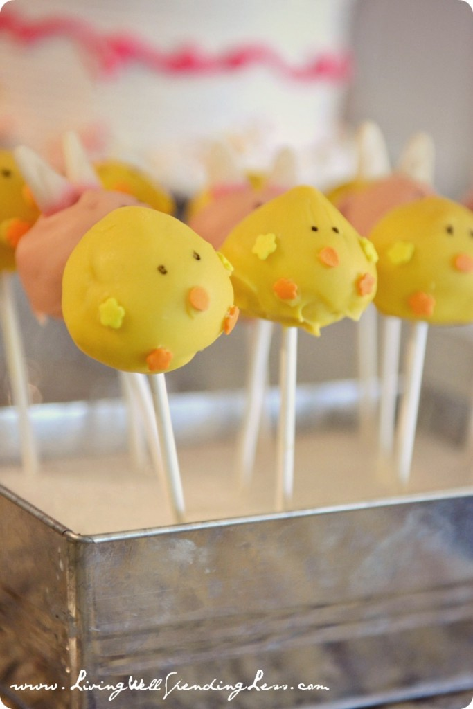 Easter Cake pops, perfect sweet treat for my Easter Birthday Party Ideas