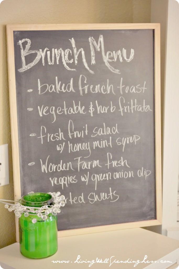 Simple easter birthday brunch living well spending less for Easy easter menu ideas