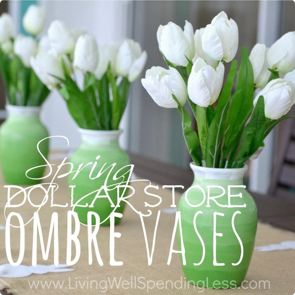 Dollar store ombre vases living well spending less dollar store ombre vases dollar stores diy projects diy dollar store party decor floridaeventfo Images