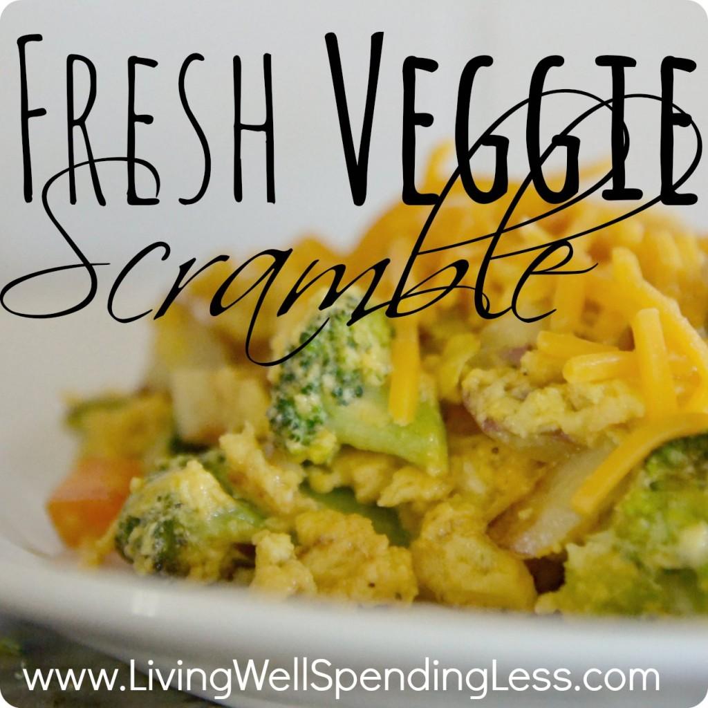 Fresh Veggie Egg Scramble - Living Well Spending Less®