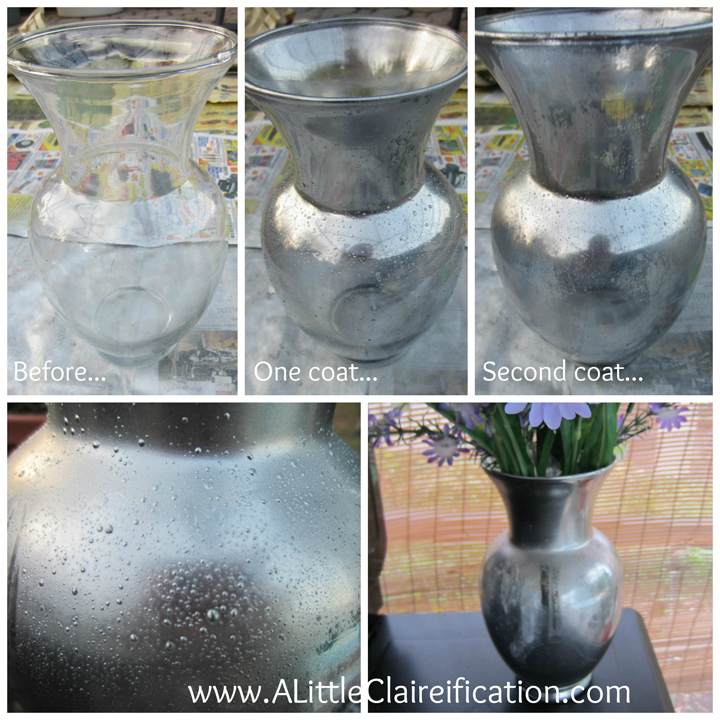 look at this great transformation on this diy mercury glass project its so easy to - How To Make Mercury Glass