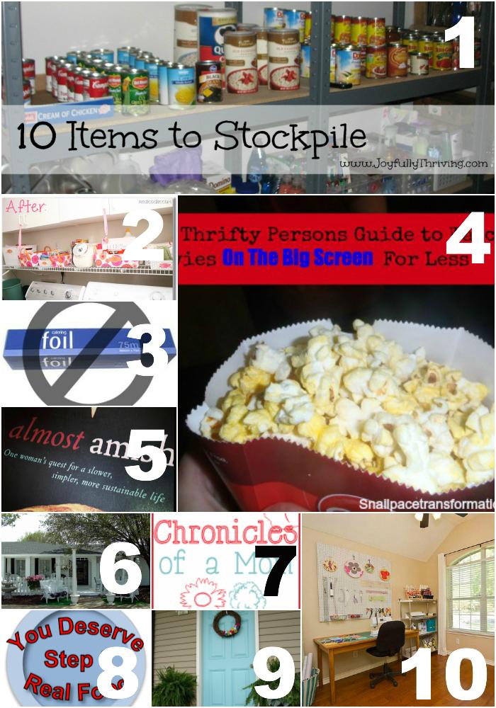 Thrifty Thursday Week 7 Top Ten