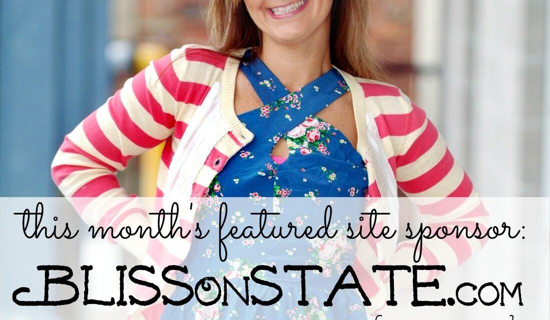 Sponsor Introduction & Giveaway : BlissOnState.com