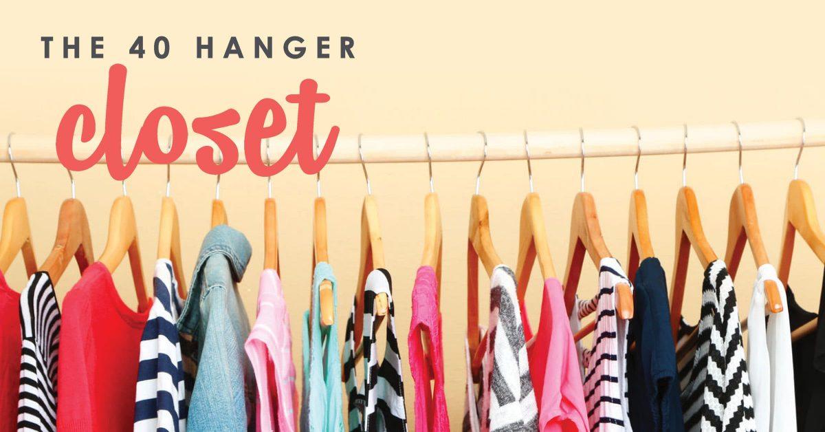 The 40 Hanger Closet | Minimalist Living | Closet Makeover