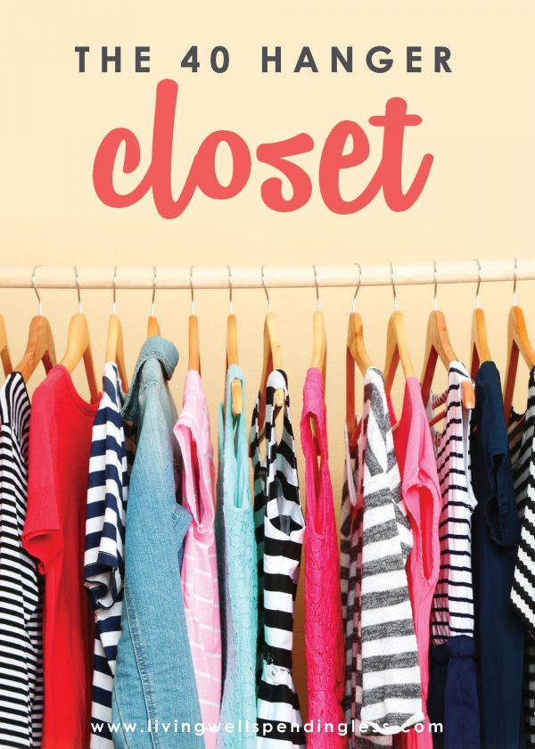 Am I the only one with a closet FULL of clothes I don't really like?  Do you ever buy things just because they are on sale, only to find you don't really like them all that much?  How do you keep your closet organized?  Have you ever thought about paring down your clothes to just the bare essentials?