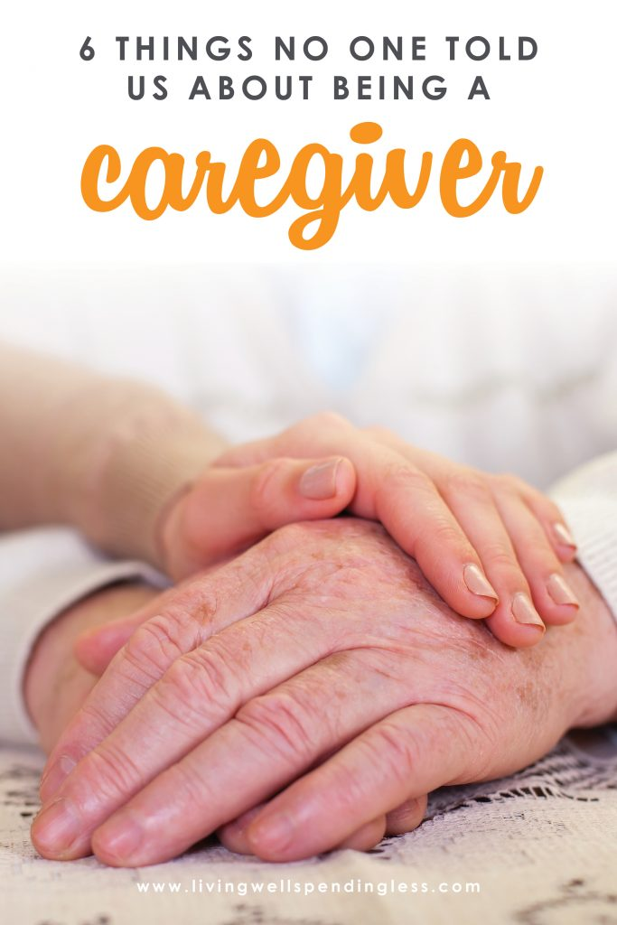 6 things no one told us about being a caregiver. An honest look at the challenges of caring for an elderly parent....and, with the benefit of hindsight, what things could've been done differently to make the process a little easier.