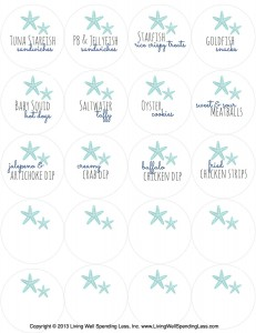 Here are easy printable mermaid party table signs to help you identify all of the treats on your buffet.
