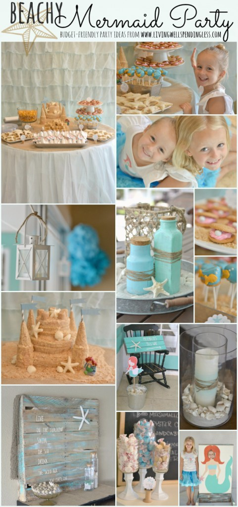 Budget-friendly and adorable beachy mermaid party--all the details!