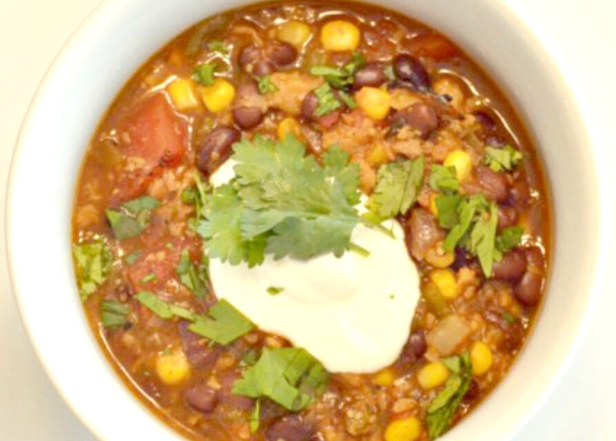 30 Minute Corn & Black Bean Chili