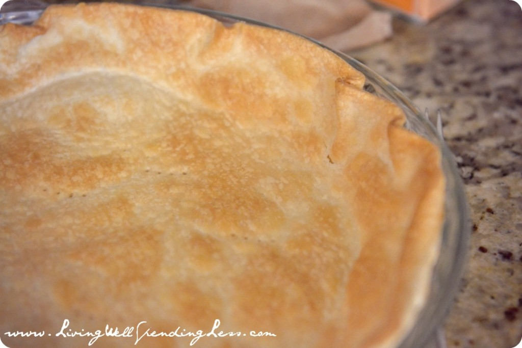 Bake the pie crust before starting the pie filling