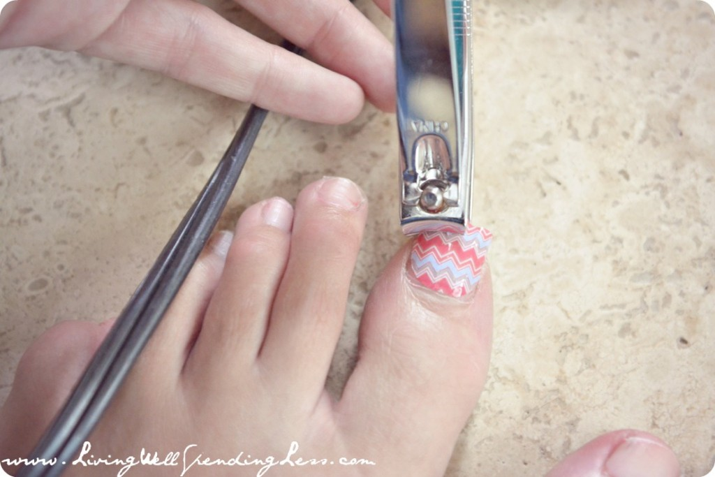 DIY Chevron Manicure & Pedicure - Living Well Spending Less®