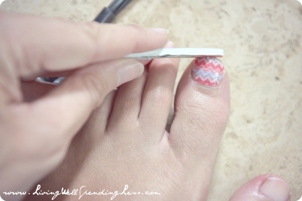 DiY Chevron Manicure & Pedicure Tutorial