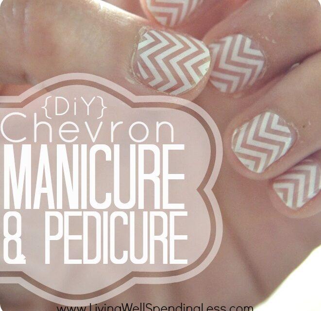 DIY Chevron Manicure & Pedicure