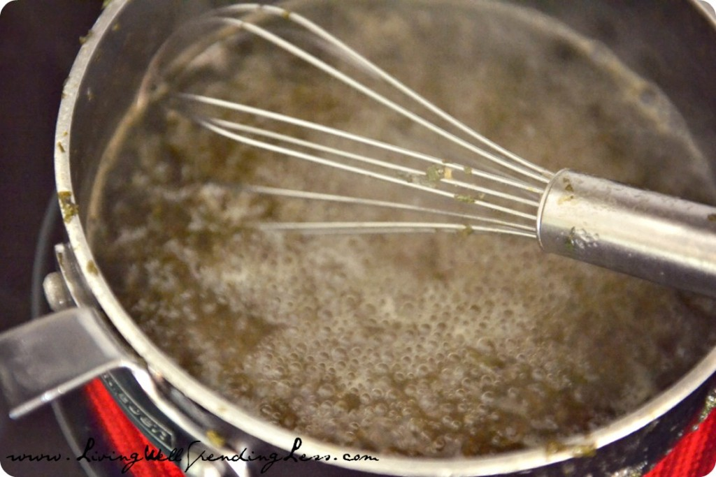Bring mixture to boiling, whisking constantly until sugar is completely dissolved.