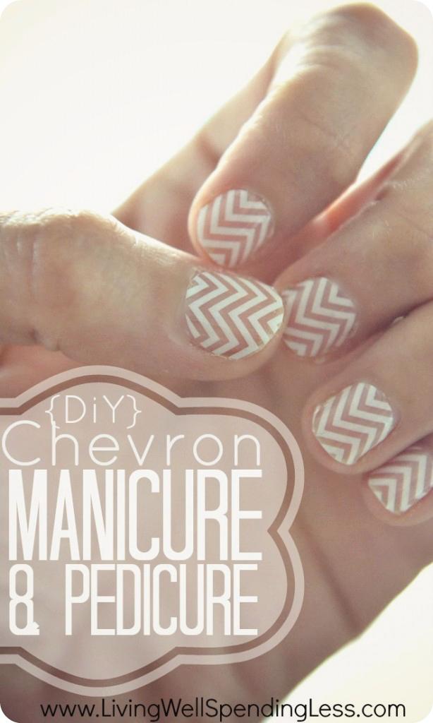 Diy chevron manicure pedicure living well spending less diy chevron manicure pedicure diy chevron nails tutorial nail design ideas the solutioingenieria Gallery