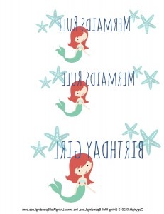 Mermaid Party T-Shirt Transfers