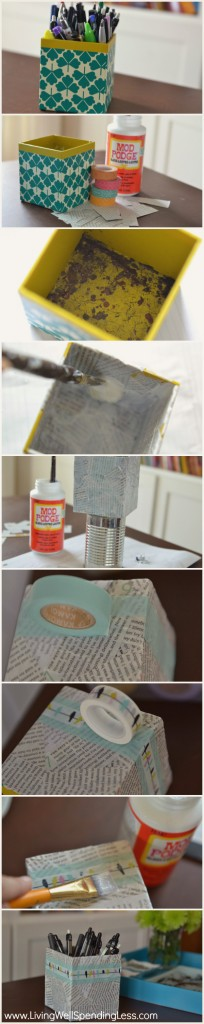 Pencil Cup Makeover {Ditto DiY Challenge, Month 1}