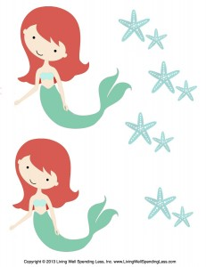 graphic about Printable Mermaids known as Free of charge Mermaid Printables for Small children Seaside Birthday Residing