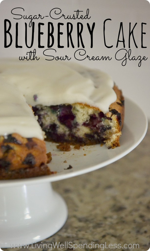 Sugar-Crusted Blueberry Cake with Sour Cream Glaze | Blueberry Cake Recipe | Blueberry Cake with Sour Cream Glaze | Blueberry Crumb Cake