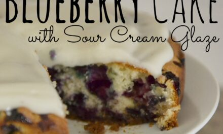Sugar-Crusted Blueberry Cake with Sour Cream Glaze