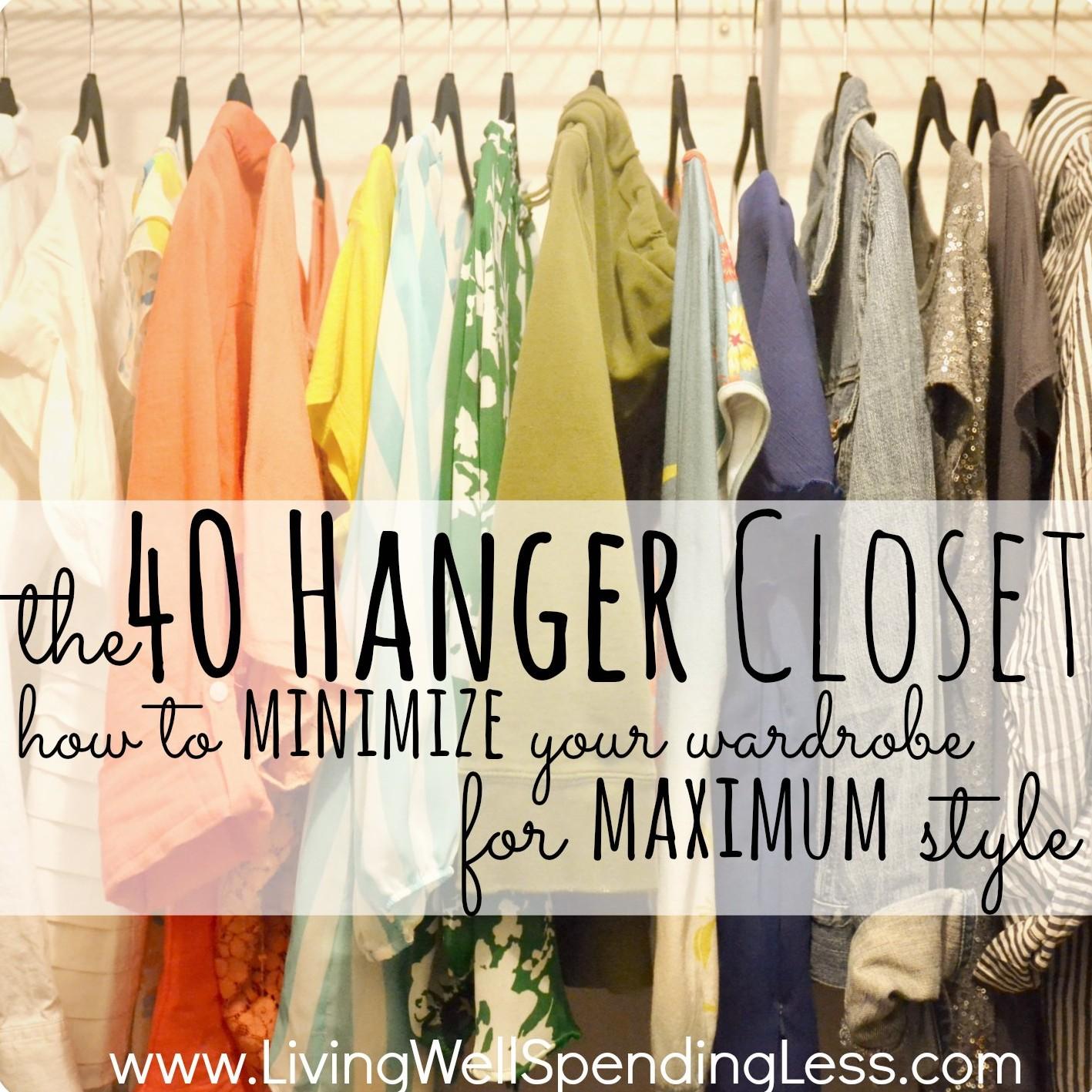 the 40 hanger closet fashion hacks closet makeover. Black Bedroom Furniture Sets. Home Design Ideas