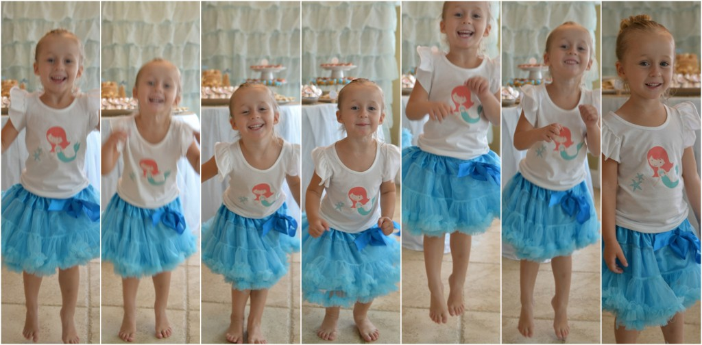 mermaid party birthday girl