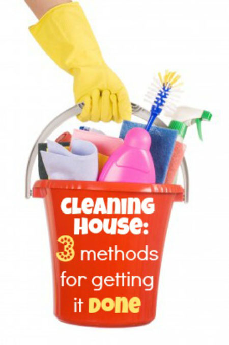 3 methods for getting your house clean
