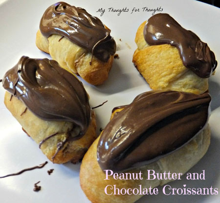 These Chocolate Peanut Butter Croissants from My Thoughts for Thought ...
