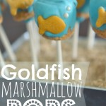 Create these adorable, yummy treats with this goldfish marshmallow pops tutorial! These darling snacks would be a great addition to any under-the-sea party!