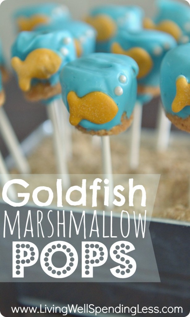 DIY Goldfish Marshmallow Pops | Recipe | Marshmallow Pops | Decorating Marshmallows