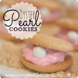 Oyster Pearl Cookies | Ariel's Oyster Pearl Cookies | Oyster Cookie Recipe | mermaid themed | mermaid party | mermaid themed food | Party food | How To Make Oyster Cookies | oyster shaped cookies | cookie recipe
