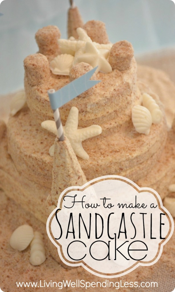 How to Make a Sandcastle Cake | Sandcastle Cake | Easy Sandcastle Cake Recipe | Sandcastle Cake Toppers | Creative Cakes | Beach Themed Cakes