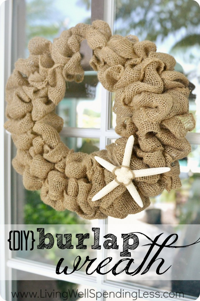DIY Burlap Wreath | How to Make a Burlap Wreath | DIY Holiday Decors | DIY Holiday | Burlap Wreath Tutorial