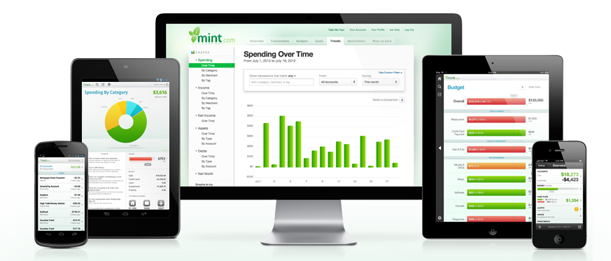 Use Mint to help you save money and track your finances.