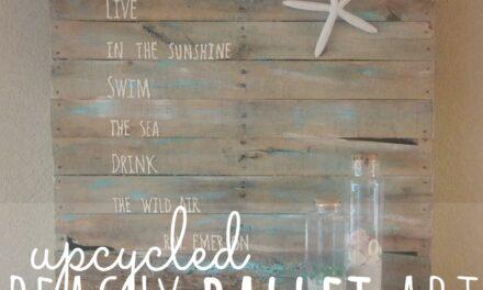 DIY Beachy Upcycled Pallet Art