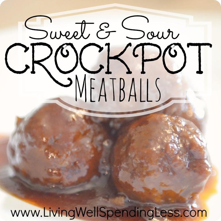Sweet & Sour Crockpot Meatballs | The Best Grape Jelly Meatball Recipe