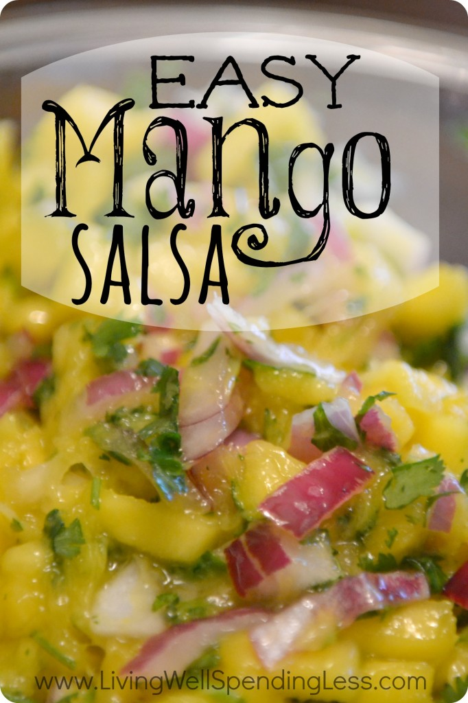 Easy Mango Salsa Living Well Spending Less