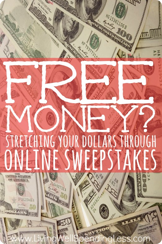 Free to enter sweepstakes for cash