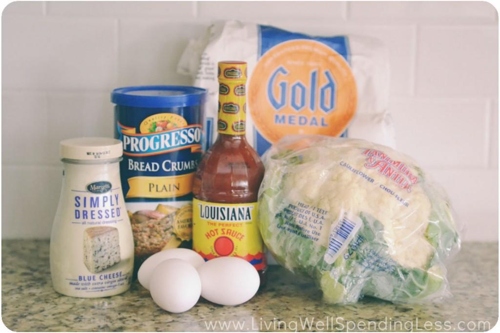 Deep Fried Cauliflower ingredients.