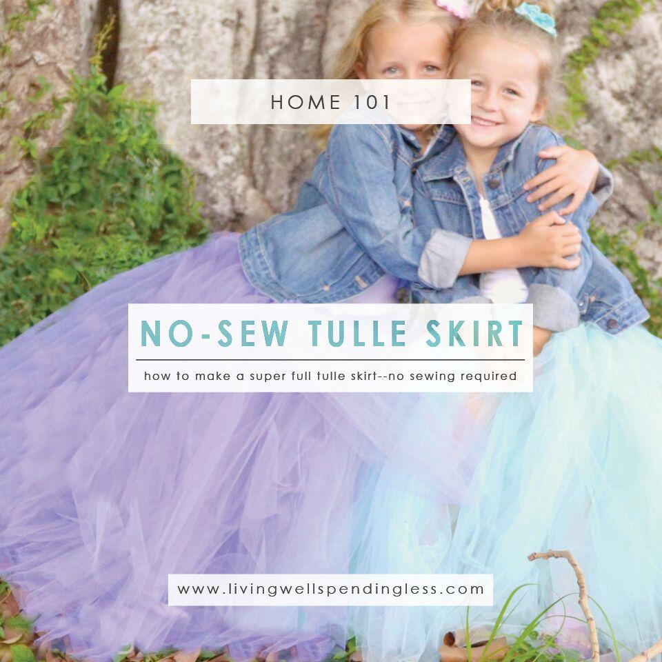 No Sew Full Tulle Skirt | DIY Full Tulle Skirt | Full Skirt | Handmade Gifts | Kid Friendly Crafts | DIY Skirt | DIY Tutu | Handmade Tulle Skirt | Easy Tulle Skirt