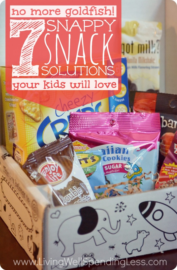 No more goldfish!  7 snappy snack solutions your kids will love