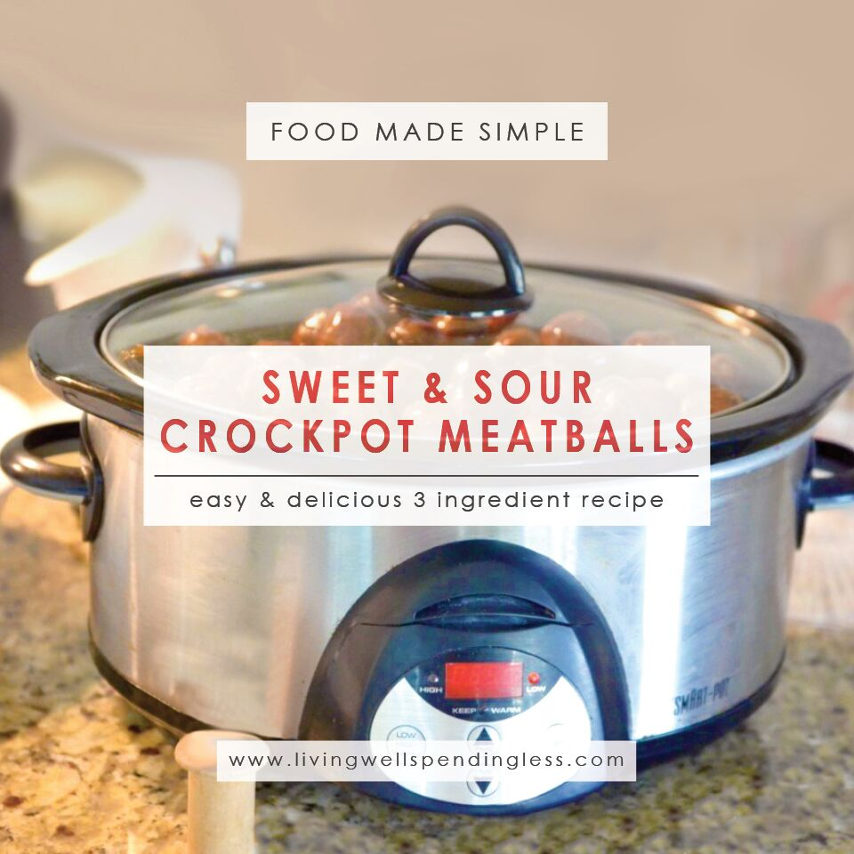 Sweet & Sour Crockpot Meatballs | Sweet and Sour Meatballs Recipe | Crock Pot Meatballs | Easy Crock Pot Recipe | Sweet and Sour Recipe